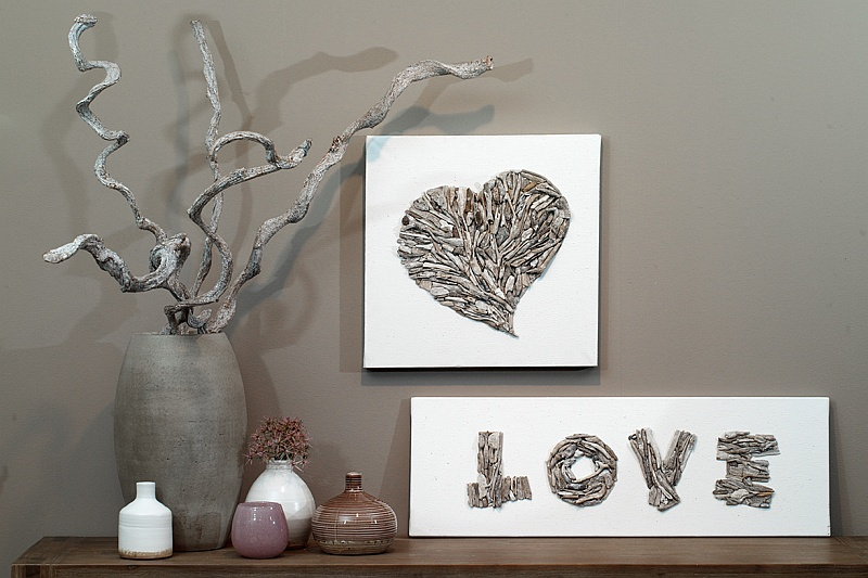 drijfhout als decoratie