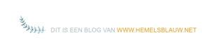 dit is een blog van hemelsblauw
