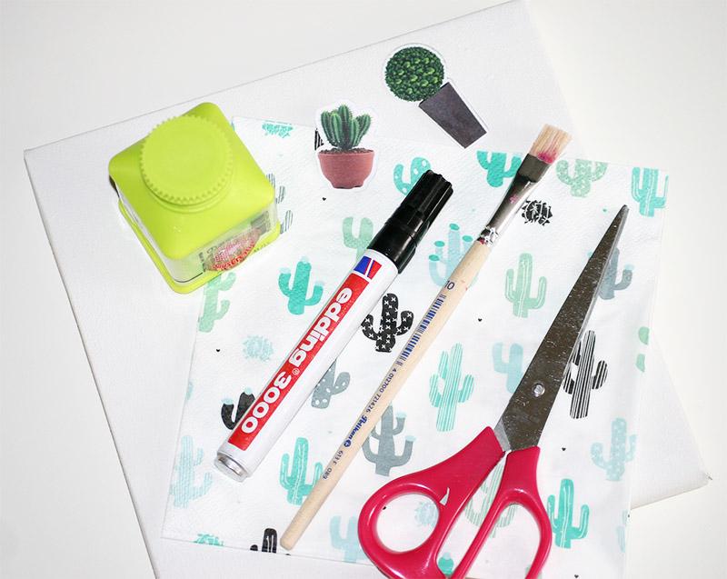 Maak jouw eigen cactus kunstwerk: benodigdheden