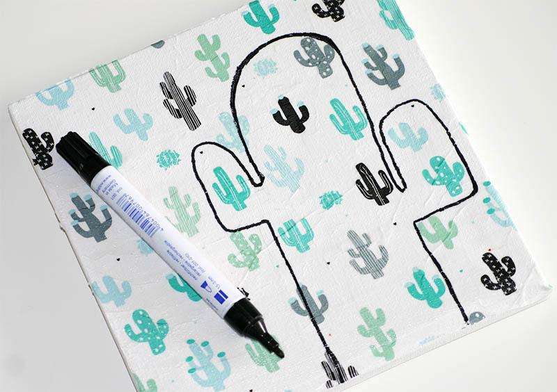 Maak jouw eigen cactus kunstwerk: tekenen