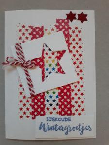 washi tape kaart kerst