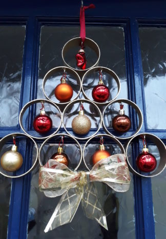 deur kerstboom