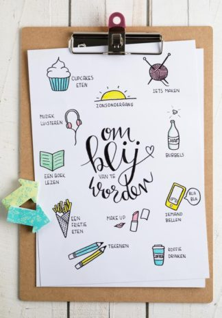 quote met kleine illustraties