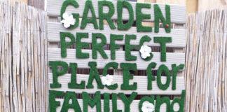 tuinteksten in het groen