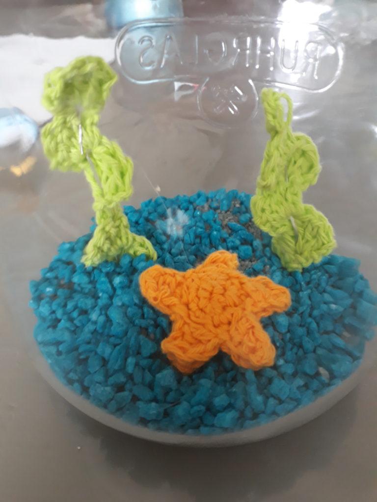 aquarium in pot