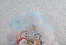 kerstkaart sneeuwbol