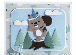 Sneeuwpret met dieren in het bos