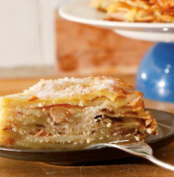 Crêpes-taart met appel en calvados