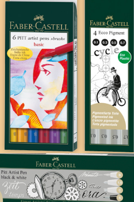 Pitt artist en Ecco tekensets voor winactie Cards & Scrap