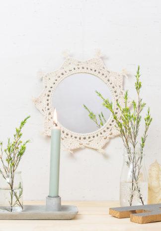gehaakte spiegel