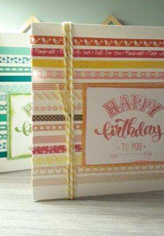streepjes kaart met washi-tape