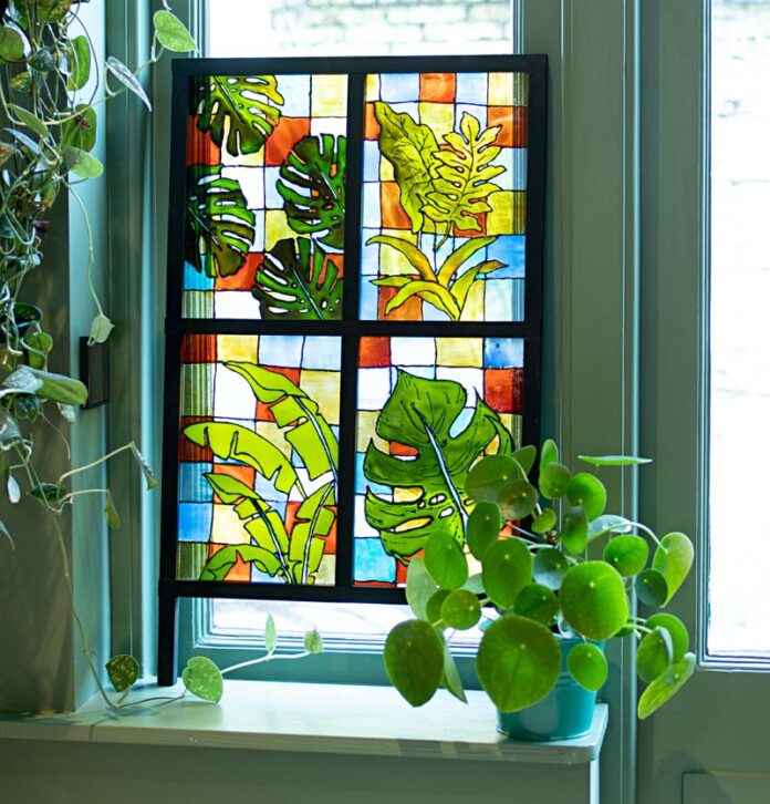 Raamwerk glas-in-lood
