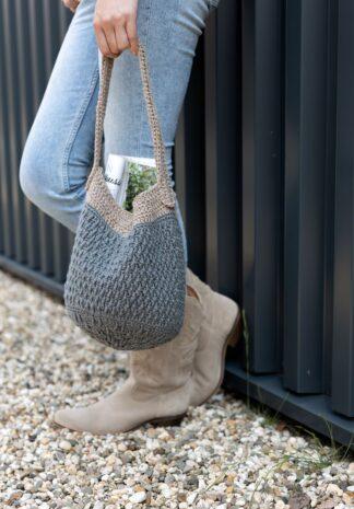 Duurzame en stoere gehaakte tas